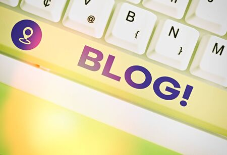 Conceptual hand writing showing Blog. Concept meaning regularly updated website or web page run by an individual or group
