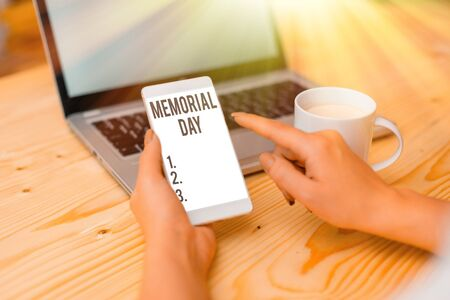 Text sign showing Memorial Day. Business photo text remembering the military demonstratingnel who died in service