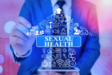 Handwriting text writing Sexual Health. Conceptual photo positive and respectful approach to sexual relationships Stock Photo