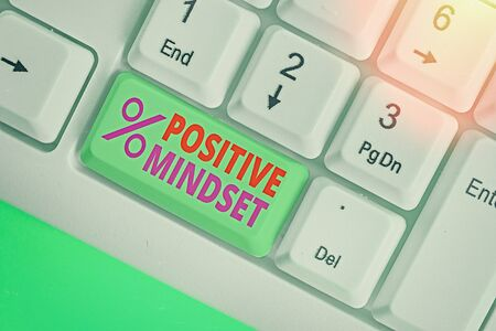 Handwriting text Positive Mindset. Conceptual photo mental attitude in wich you expect favorable results