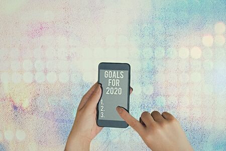 Text sign showing Goals For 2020. Business photo text object of demonstratings ambition or effort aim or desired result 版權商用圖片