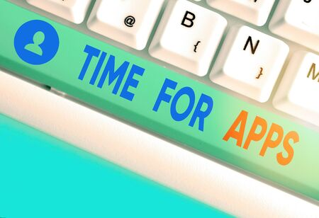 Writing note showing Time For Apps. Business concept for make use of application or services using the technologies
