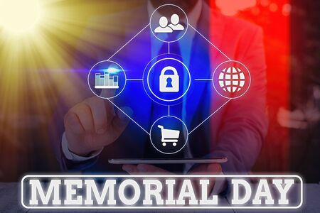 Word writing text Memorial Day. Business photo showcasing remembering the military demonstratingnel who died in service 版權商用圖片