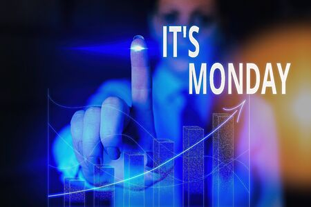 Word writing text Its Monday. Business photo showcasing welcoming the first day of the week with positive outlook Stock Photo