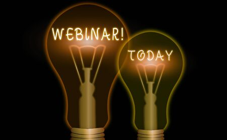 Word writing text Webinar. Business photo showcasing seminar or other presentation types that takes place on Internet