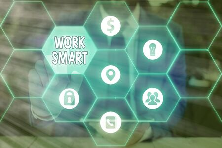 Text sign showing Work Smart. Business photo text figuring out in order to reach goals in the most efficient way