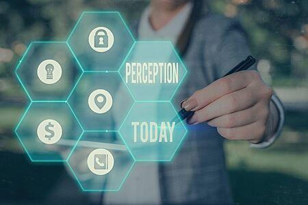 Word writing text Perception. Business photo showcasing individuals organize and interpret their sensory impressions 版權商用圖片