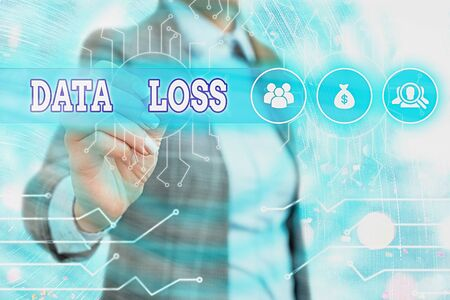 Word writing text Data Loss. Business photo showcasing process or event that results in data being corrupted and deleted 版權商用圖片