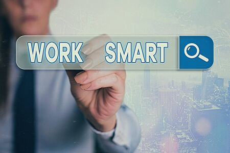 Word writing text Work Smart. Business photo showcasing figuring out in order to reach goals in the most efficient way
