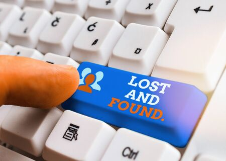 Text sign showing Lost And Found. Business photo text a place where lost items are stored until they reclaimed