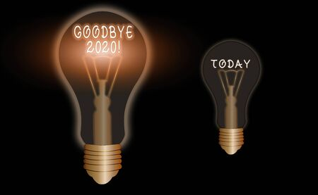 Text sign showing Good Bye 2020. Business photo text express good wishes when parting or at the end of last year