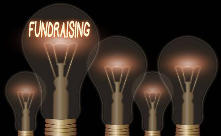 Writing note showing Fundraising. Business concept for act of collecting or producing money for a particular purpose