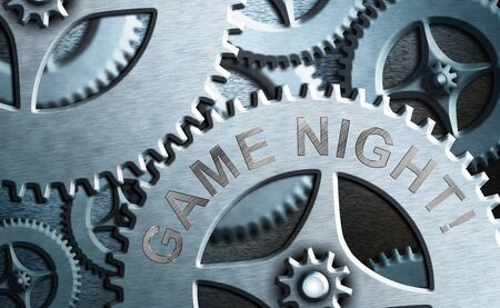 Word writing text Game Night. Business photo showcasing usually its called on adult play dates like poker with friends