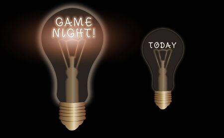 Text sign showing Game Night. Business photo text usually its called on adult play dates like poker with friends