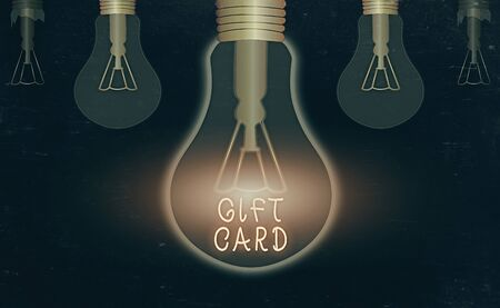 Word writing text Gift Card. Business photo showcasing A present usually made of paper that contains your message