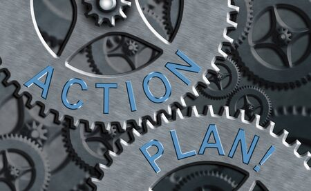 Text sign showing Action Plan. Business photo text proposed strategy or course of actions for certain time
