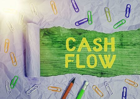 Conceptual hand writing showing Cash Flow. Concept meaning Movement of the money in and out affecting the liquidity Stock fotó