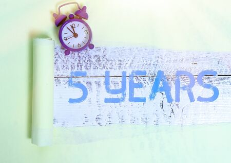Word writing text 5 Years. Business photo showcasing Remembering or honoring special day for being 10 years in existence