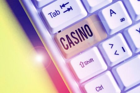 Handwriting text Casino. Conceptual photo a building where games especially roulette and card games are played