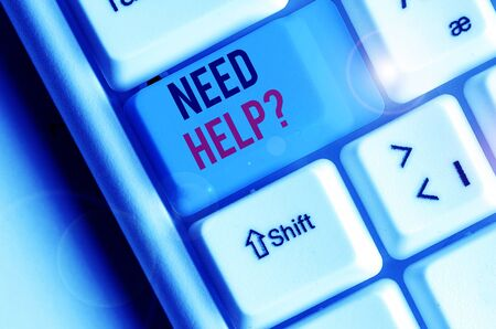 Word writing text Need Helpquestion. Business photo showcasing to give or provide what is necessary to accomplish a task