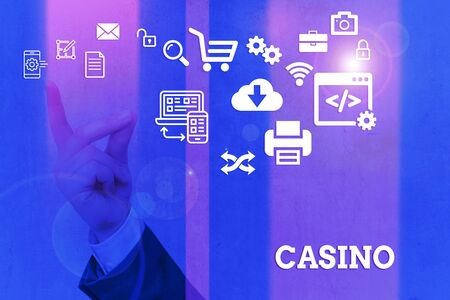 Word writing text Casino. Business photo showcasing a building where games especially roulette and card games are played