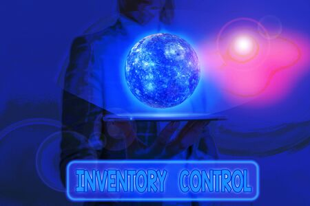 Word writing text Inventory Control. Business photo showcasing regulating and maximising your company inventory
