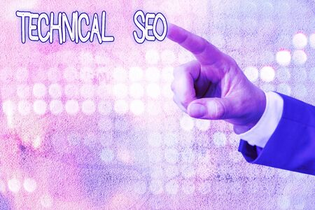 Handwriting text writing Technical Seo. Conceptual photo Optimization of website that doesn t involve the content part