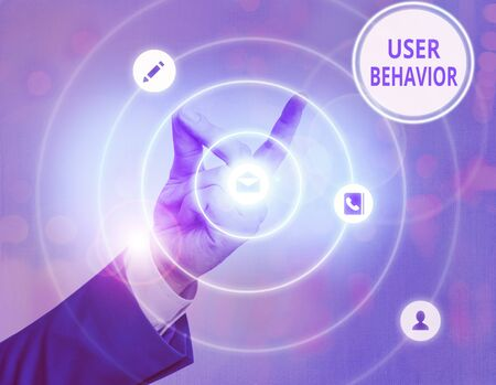 Writing note showing User Behavior. Business concept for focuses on user activity as opposed to static threat indicator
