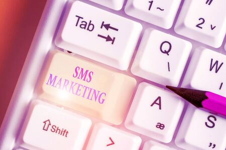 Handwriting text writing Sms Marketing. Conceptual photo Effective technology for inviting clients and retain customers