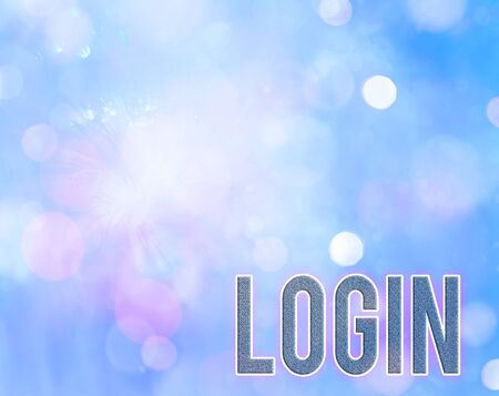 Handwriting text writing Login. Conceptual photo Entering website Blog using username and password Registration Stock Photo