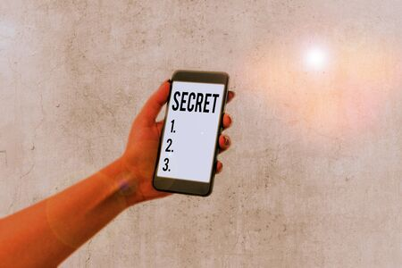 Handwriting text Secret. Conceptual photo something that is kept or meant to be kept unknown to others 免版税图像