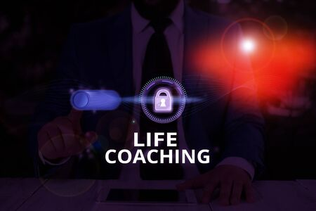 Text sign showing Life Coaching. Business photo text a demonstrating employed to help showing attain their goals in life