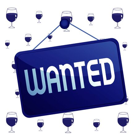 Text sign showing Wanted. Business photo text Desire something Wish want Hoping for Somebody being searched Colored memo reminder empty board blank space attach background rectangle Stok Fotoğraf