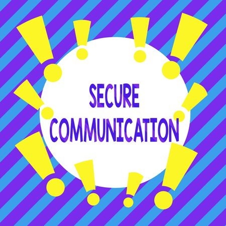 Handwriting text Secure Communication. Conceptual photo preventing unauthorized interceptors from accessing Asymmetrical uneven shaped format pattern object outline multicolour design