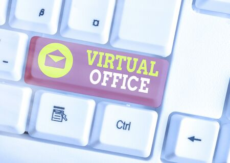 Word writing text Virtual Office. Business photo showcasing operational domain of any business or organization virtually