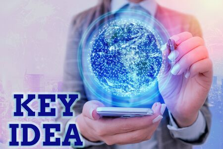 Text sign showing Key Idea. Business photo text Exceptional or vital thought or suggestion Without comparison Stock Photo