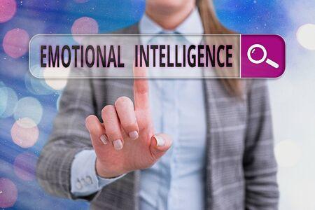 Handwriting text writing Emotional Intelligence. Conceptual photo Self and Social Awareness Handle relationships well Banco de Imagens