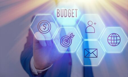Handwriting text writing Budget. Conceptual photo an estimate of income and expenditure for a set period of time
