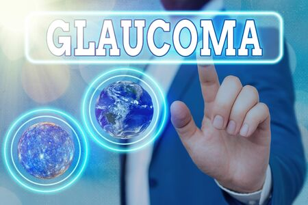 Text sign showing Glaucoma. Business photo showcasing Eye diseases which result in damage to the optic nerve Vision loss