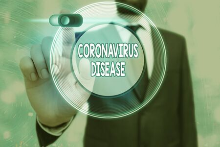 Conceptual hand writing showing Coronavirus Disease. Concept meaning defined as illness caused by a novel virus SARSCoV2