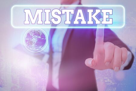 Writing note showing Mistake. Business concept for Something not correct Lack of accuracy Wrong Incorrect Fail