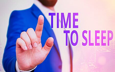Text sign showing Time To Sleep. Business photo showcasing a natural period of slumber or to be in state of inactivity