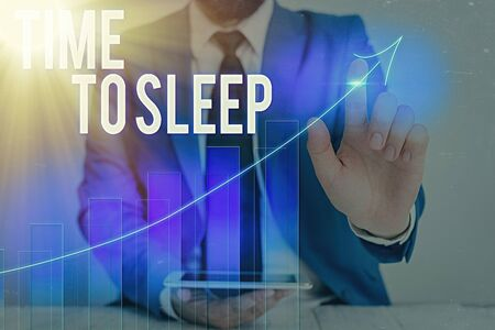 Word writing text Time To Sleep. Business photo showcasing a natural period of slumber or to be in state of inactivity