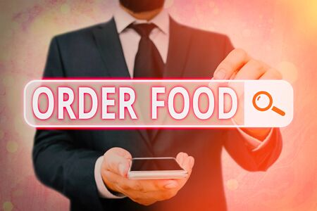 Handwriting text Order Food. Conceptual photo the process of requesting a preferred food in a restaurant