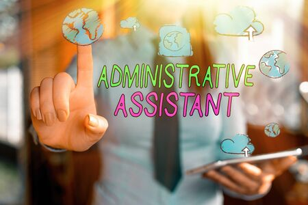 Handwriting text writing Administrative Assistant. Conceptual photo Administration Support Specialist Clerical Tasks
