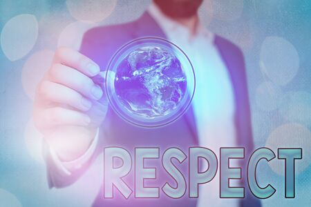Handwriting text Respect. Conceptual photo Feeling of deep admiration for someone or something Appreciation Stock Photo