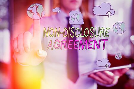 Handwriting text writing Non Disclosure Agreement. Conceptual photo Legal Contract Confidential Material or Information