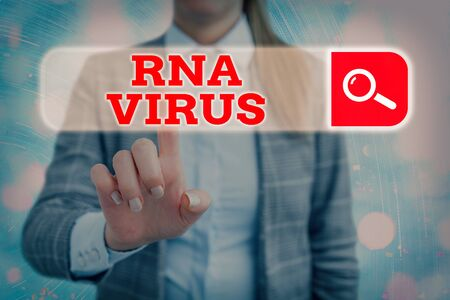 Handwriting text writing Rna Virus. Conceptual photo a virus genetic information is stored in the form of RNA Stock Photo