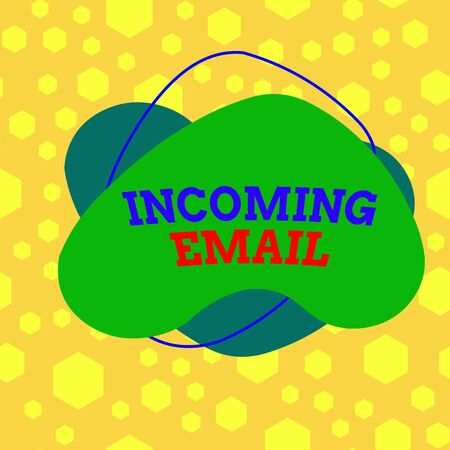Text sign showing Incoming Email. Business photo text those mail pieces that are received by a company or individual Asymmetrical uneven shaped format pattern object outline multicolour design
