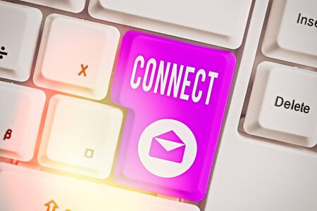 Word writing text Connect. Business photo showcasing Being together Contact Associate Relate Networking communicate